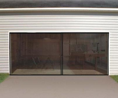Incroyable Garage_door_screen_double